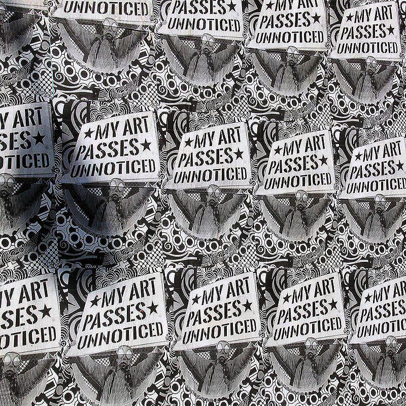 MY ART PASSES UNNOTICED. By StDsgn.  Lapa. Rio de Janeiro. June 2016. Street Art Rio WebSite : stdsgn.fr  #StDsgn #StreetDesign #streetartist #rio #riodejaneiro #streetartrio #lapa #saopaulo #brasil #streetartsaopaulo #streetartistry #streetart #vandal #collage #lambelambe #graphic #design #streetartlondon #streetartparis #streetarteverywhere