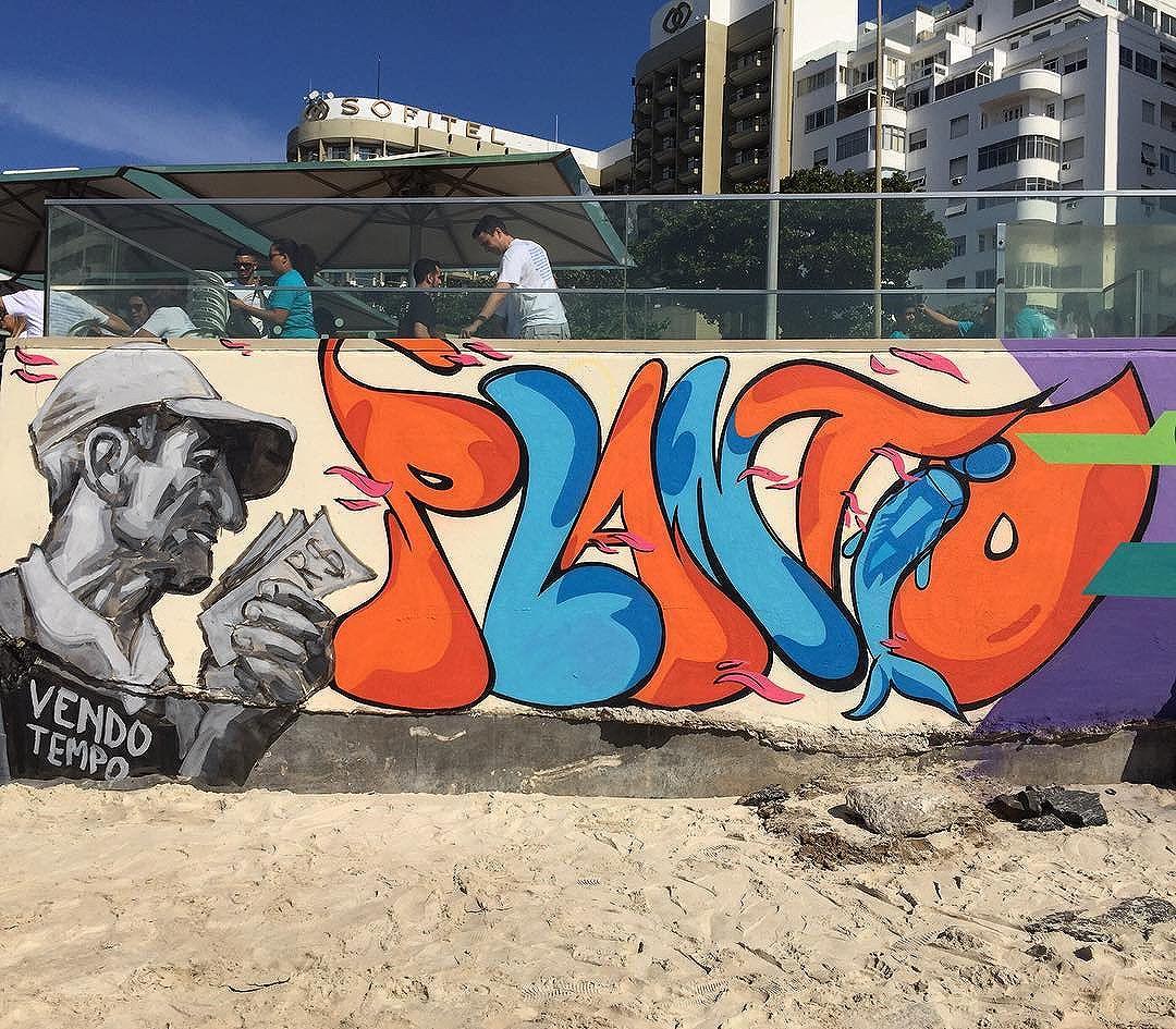 Plantio com @ru8icon1 @plantiocrew @diogolamarca @mig_sereno #spraypaint #streetartrio #rio40graus #plantiocrew #paraoteuplantio #rua #copacabana #fortedecopacabana