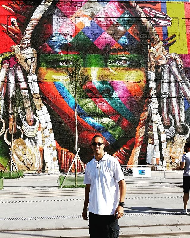 Art in Rio by @kobrastreetart #streetArt #rio2016olympics #cidadeolimpica #roadtoRio #art #RiodeJaneiro #Kobra #grafitti @globalstreetart #kobrastreetart #streetArtRio