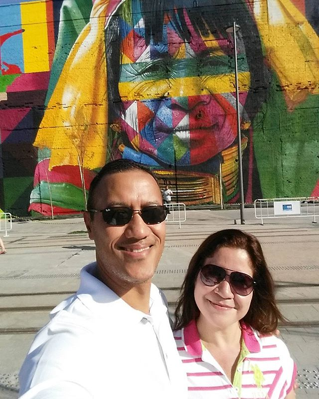 Beautiful Day in Rio! #errejota #rio2016olympics #cidadeolimpica #rio2016 #praçamaua #021 #streetartrio #art #globalstreetart Artwork: @kobrastreetart #kobrastreetart
