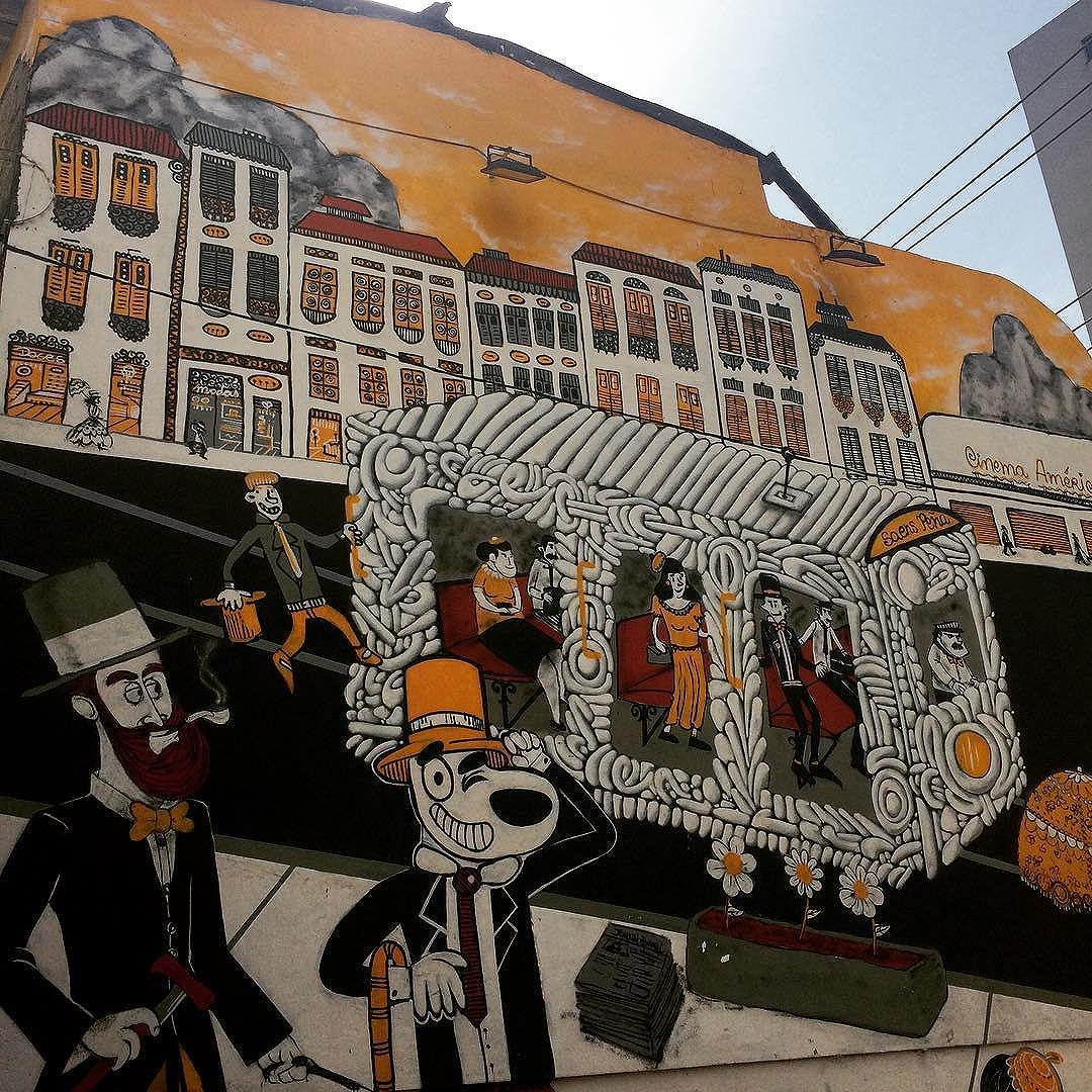 Pelo caminho! #CazesSawaya #Tijuca #RuaUruguai #MemóriaLocal #RioAntigo #StreetArt #StreetArtRio #RJ #RioDeJaneiro #InstaGraffiti #InstaGrafite