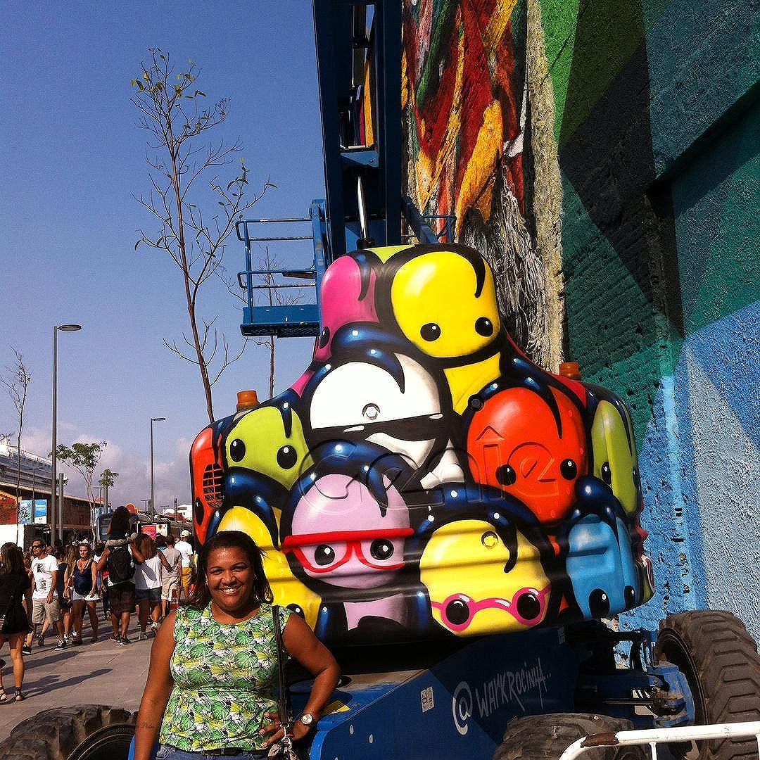 ️️ #warkrocinha #streetart #urbanart #streetartrio #somostodosolimpicos #brasil #eutonanuvem #umveraopordia #021rio #riomais #rio2016olympics