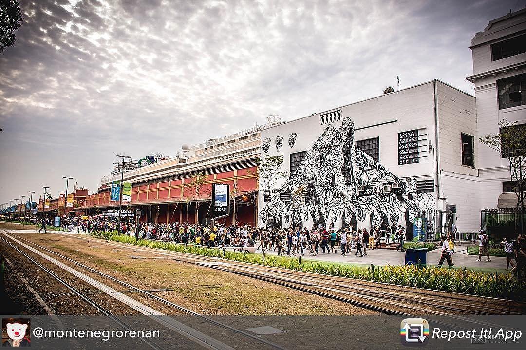 """Belo registro do meu mural """" Magia Negra"""" ao lado do armazém 1 no tal do polêmico #boulevardolimpico #camilacamiz #streetartrio #streetart #mural #pretoebranco #magianegra"""