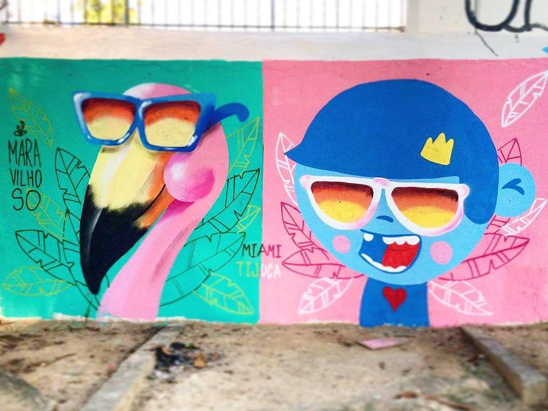Miami/Tijuca. É maravilhoso!! #trapacrew #streetartrio #streetartrj #flamingo #flamingos #flamenco #oamorerosa #tijuca #maracana #graffiti #grafite #graff #graffitiporn #street #colorful #wall #city #urban #spraydaily #граффити #spraycanart #sprayart #graffity #instagraff #tot #streetart #rafagraffiti #rafa #maravilhoso #miami