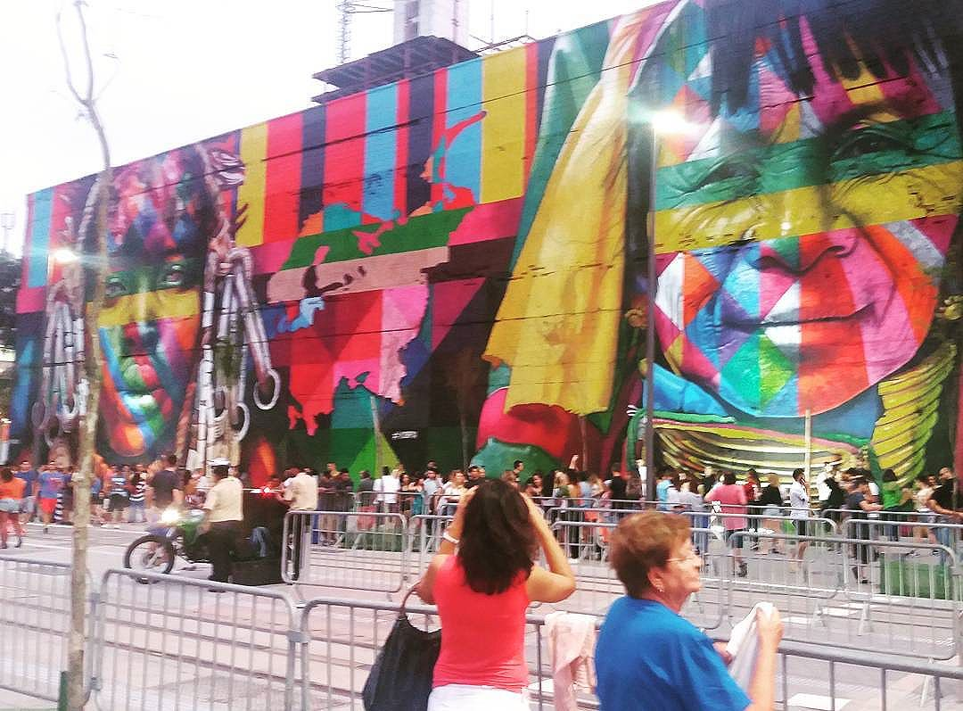 O Centro ta lindo #streetartrio