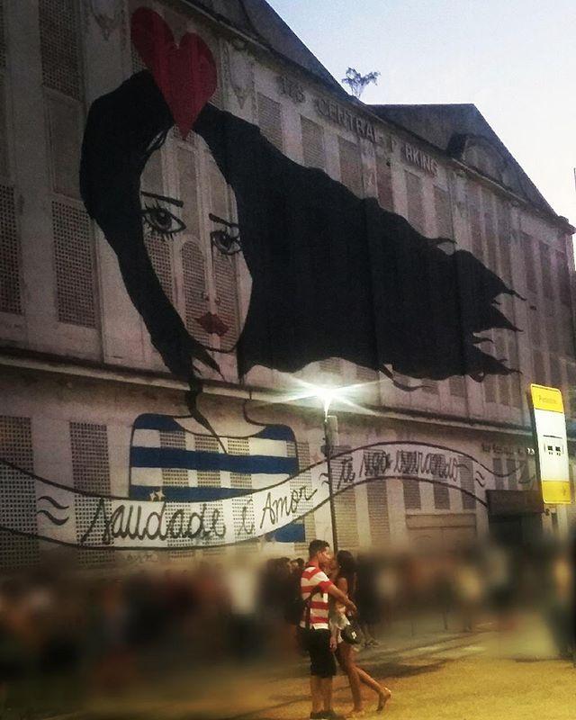 Saudade é amor... te sigo esperando... #maisum #boyfriend #sixmonths #graffiti #boulevardolimpico #streetartrio #streetart