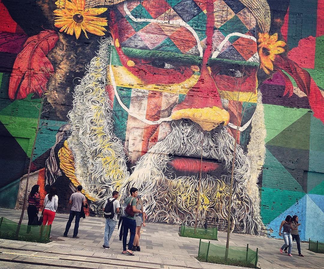 #kobrastreetart #kobra #streetartrio #rio2016 #riodejaneiro #graffiti #streetart #artist #artistic #brasile #br #brazil #travellingbrazil #design #love #colors #traditional #indigenous #nature