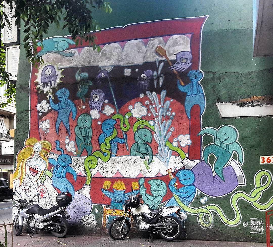 #StreetArtRio  Grafite na rua Voluntários da Pátria, entre as ruas Real Grandeza e Conde de Irajá, em Botafogo.  Artistas: @rafadoria (Doria) e @togaone (Toga)  Tirada em 26/08/2016  #g021_doria #g021_toga