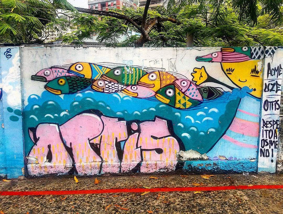 #StreetArtRio  Grafite nos muros da Escola Municipal Pedro Ernesto, na Lagoa.  Artistas: @ottis_96 (Ottis), #uze e @universoacme (Acme)  Tirada em 12/01/2016  Quer conhecer mais obras destes artistas e de tópicos relacionados? Explore mais em: #g021_ottis #g021_uze #g021_acme