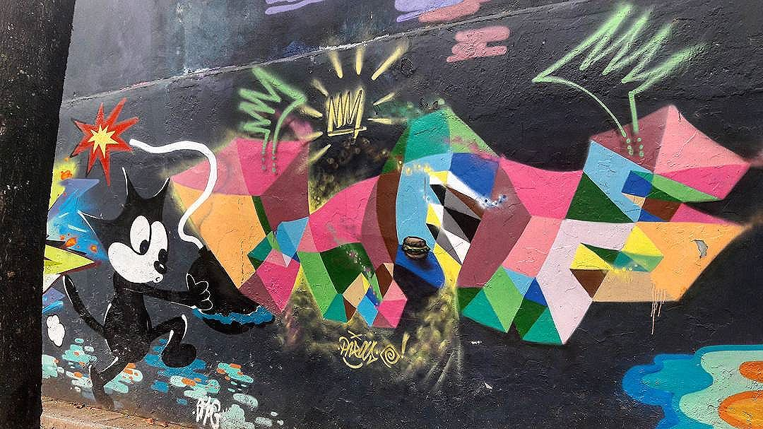 #StreetArtRio  Grafite nos muros do CAp UFRJ, na Lagoa.  Artistas: @hayalagarcia (Amog) e @cristianopreas (Preas)  Tirada em 06/09/2016  #g021_amog #g021_preas