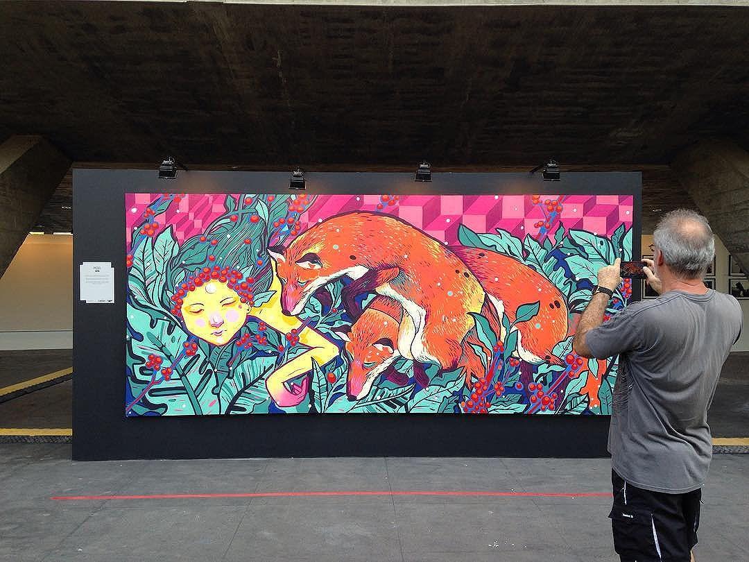 Arte de @afa1987 Miguel Afa no #ArteCore foto de @ArteRuaRio. 15 e 16 de outubro de 2016 no #MAM | #ArteRuaRio #brarts . . * veja mais arte em #StreetArtRio #GraffRio #RJStreetArt #RJGraffiti #GraffitiRio #GraffitiCarioca #InstaGrafite
