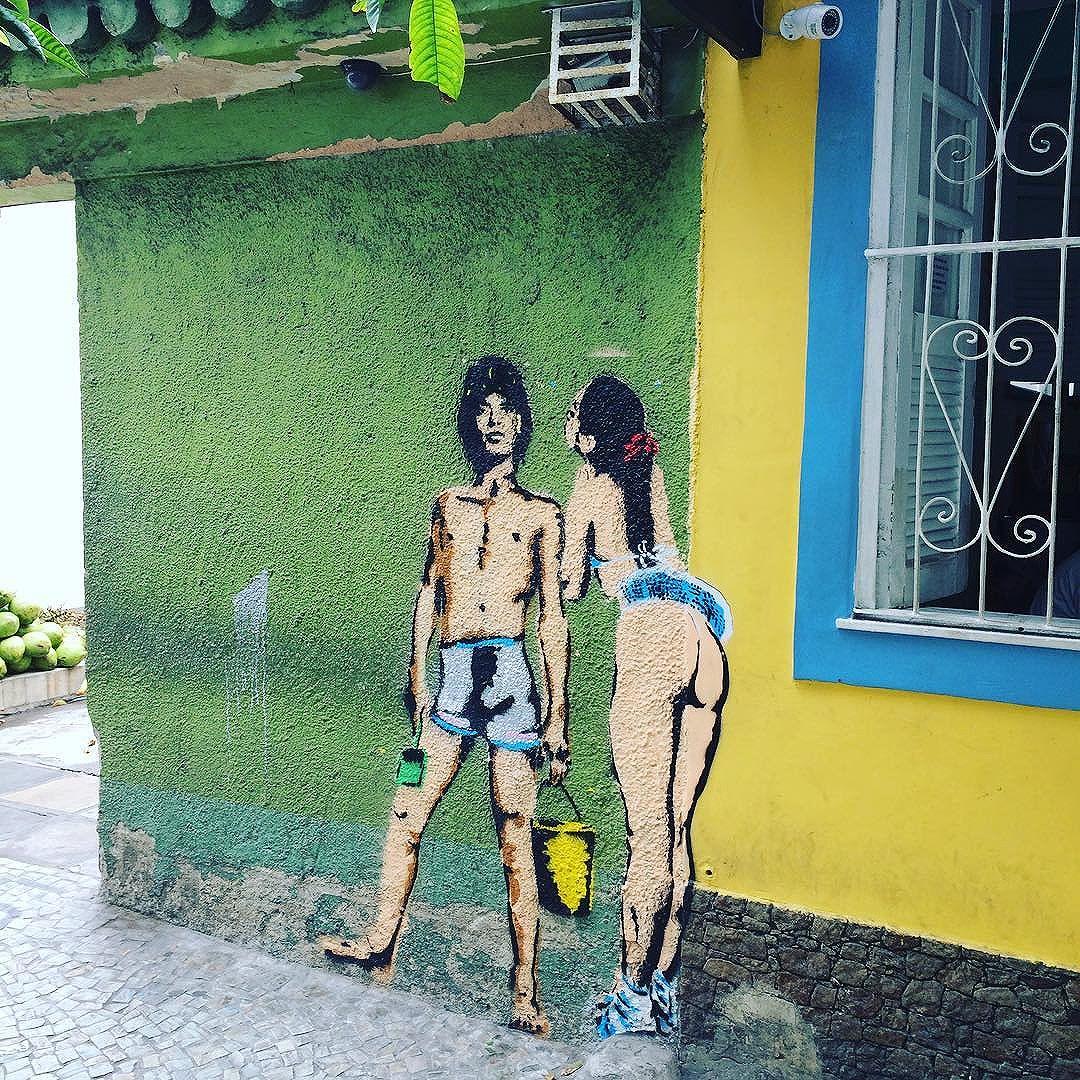 Ipanema #riourbanarts #ipanema #rio #graffititour #riostreetartexperience #riourbanarts #tourinrio #riotour #riograffiti  #streetartrio