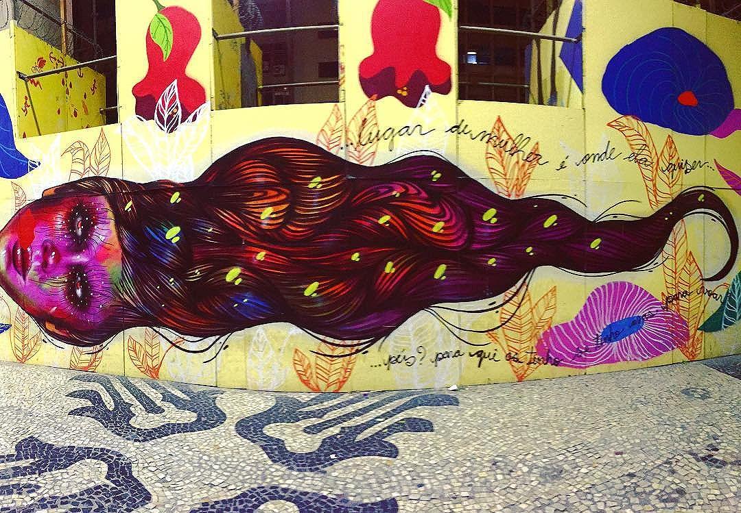 lugar de mulher é onde ela quiser #streetartrio #grafitti #arte #mulher