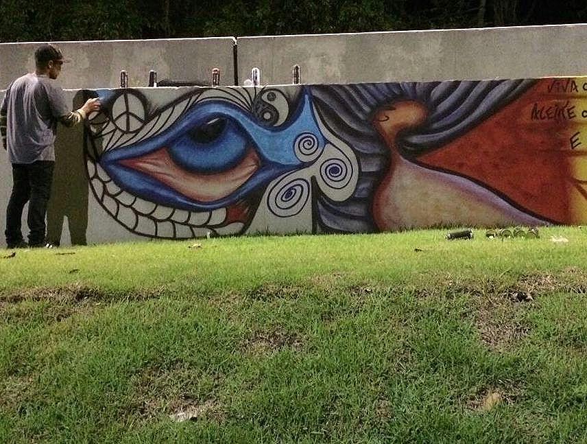 """My trip to fantasy"" #Streetart #arte #mytrip #et #streetartrio"