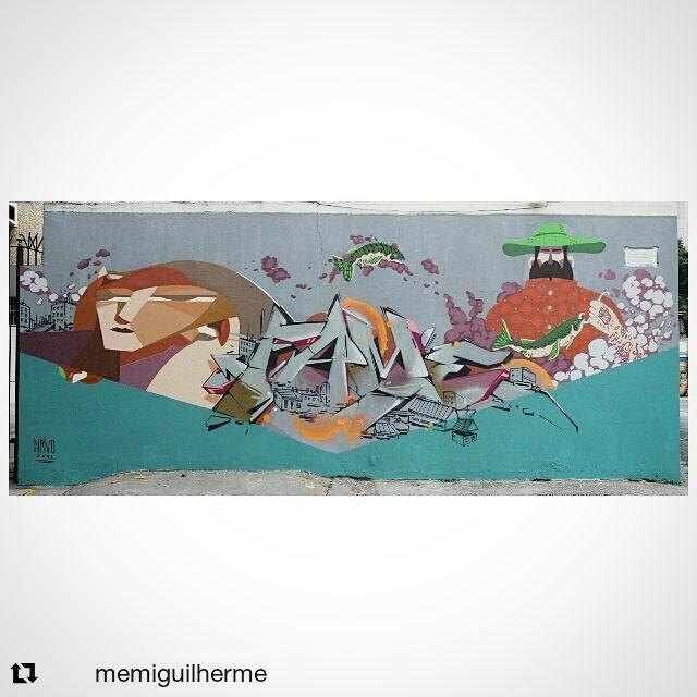 NRVO  sempre comigo.  Memi - Fame - Cash  #nrvo #fame #paint #streetart #streetartrio #muro # wall #graffiti #rua #cidade # Tijuca #voletivonrvo #betofame