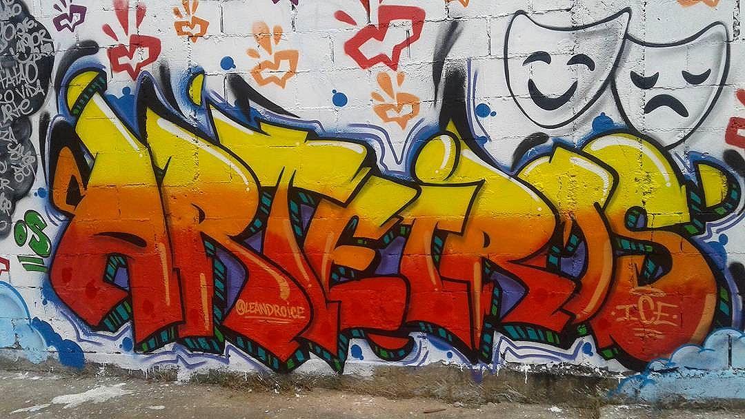 Os Arteiros  #graffiti #art #cdd #osarteiros #artemanha #leandroice #arte #streetart #streetartrio