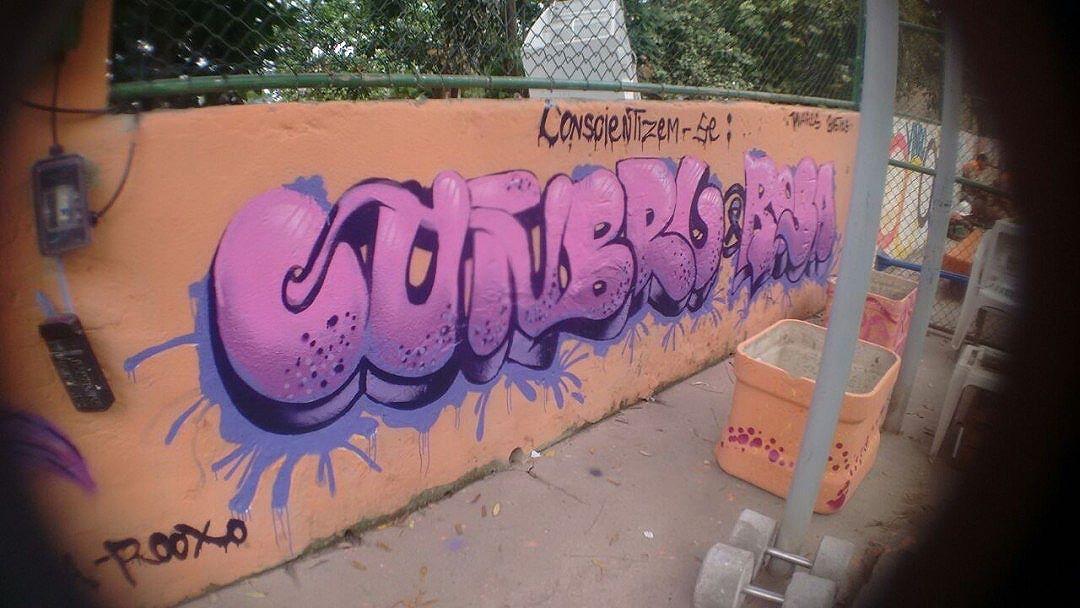 """Priscila Renata é conhecida pelos grafiteiros Rooxo. Com 15 anos, já é artista urbana e militante feminista. Ela iniciou sua trajetória artística há pouco mais de uma ano, quando participou de uma oficina da Rede Nami, ministrada pela grafiteira Mel. Desde então, Rooxo caminha lado a lado com a Nami.  Neste tempo, já participou de diversos eventos, palestras, ministrou oficinas e fez parte de exposições, como a Vinyl Vandals em Nova York (2016), FLUP (2015), Meeting Of Favela e foi oficineira de graffiti no NUDEM. Não que a sua vida seja fácil e lhe dê todas as oportunidades: suburbana, criada pelo pai paraplégico, possui muitas responsabilidades e passou por situações de desencorajamento e teve sua capacidade subestimada por ser mulher e por sua pouca idade.  A arte que cria é motivada pela sua necessidade de expressar os sentimentos e dificuldades que enfrenta. Rooxo pensa em seu trabalho, também, como uma forma de ajudar e conscientizar outras pessoas. Neste percurso, conquistou amizades e experiências que a constroem enquanto pessoa e, sente, cada vez mais, que seu objetivo é interagir e apoiar ao máximo as comunidades vulneráveis e seus projetos sociais.  Sobre seu graffiti, Rooxo declara: """"Já grafitei instituições, como Orfanato Cidade de Deus, o Coart - UERJ, a Escola Municipal São João Batista, o Orfanato Ziraldo, entre outros. Hoje, faço parte do Coletivo 400ml crew, sou integrante no grupo graffiti diálogo - ONG A.R.E.A. Faço personagens e letras simplestyle. Tenho um estilo cosmo, onde exerço itens na predominância de cores no tom roxo e violeta"""". #StreetArt #StreetArtRio #Graffiti #RedeNami"""