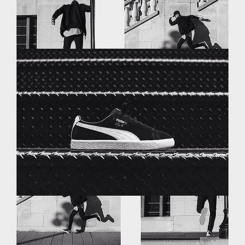 """Puma Clyde B&C é um Clássico sneaker da Puma, o Clyde foi o primeiro modelo de basquete na época a ser assinado por um jogador, que para muitos, foi um dos grandes astros da NBA, e que consequentemente acabou virando o xodó do movimento street e dos b-boys na década de 80. Mantendo suas tradições, e o conceito que deu início a essa revolução na cultura sneaker  Este clássico tênis é feito de camurça com um Formstrip em uma textura de basquete. Ele é chamado de B & C, que remete a Bonnie & Clyde - a partir de um filme antigo, onde Walt Frazier ganhou o nome Clyde. Assim como Walt """"Clyde"""" Frazier, este tênis de camurça também ganhou seu apelido do clássico filme.  #puma #adidas #sneaker #sneakerhead #sneakerbr #sneakerbrasil #sneakerbrazil #streetwear #streetwearfashion #culturaurbana #streetartrio #streetart #culturestreet #urban #street #hiphop #rapnacional #rapcarioca #bboy #breaking #wordbboyclassic #lifestyle #streetdance #culturaurbana #breakingboy #spray #pumasuede #suede #clyde #NBA #80's"""