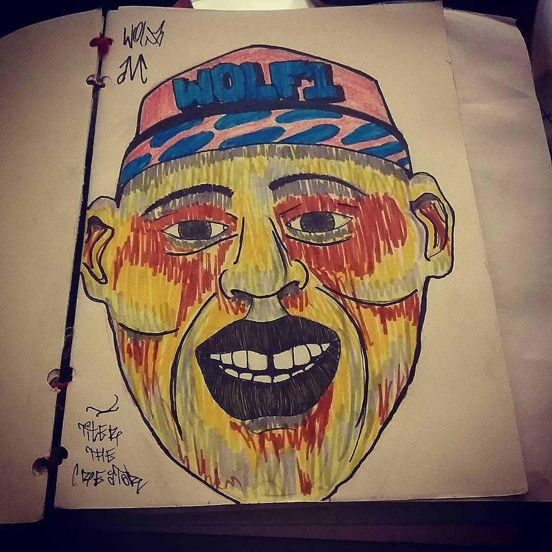 Tentativa de desenhar o Tyler  the creator  #calvinwolf  #wolf  #vandal  #streetart  #streetartrio  #graffiti  #instagraffiti  #ilustração  #sketch  # tylerthecreator