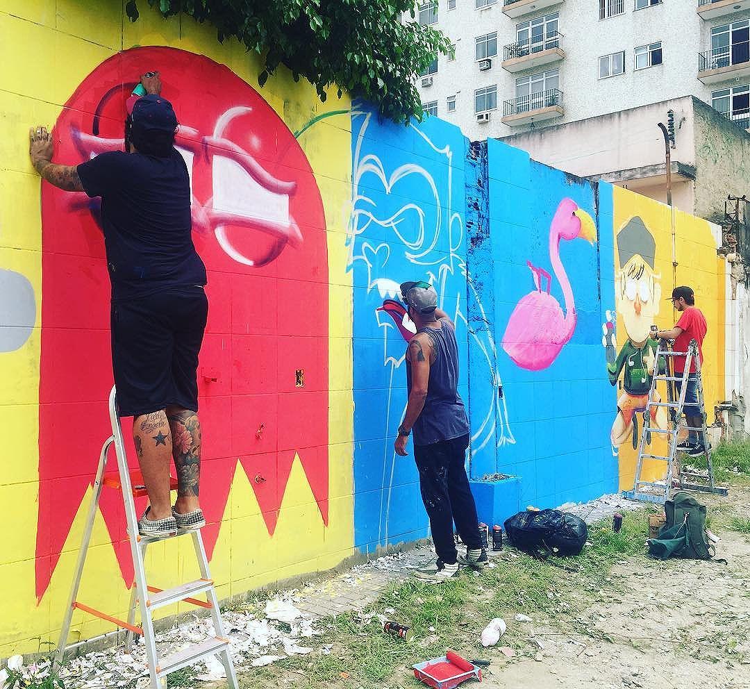Colei no role da @trapa_crew ... #ruasdazn / #pandronobã #streetartrio 2016