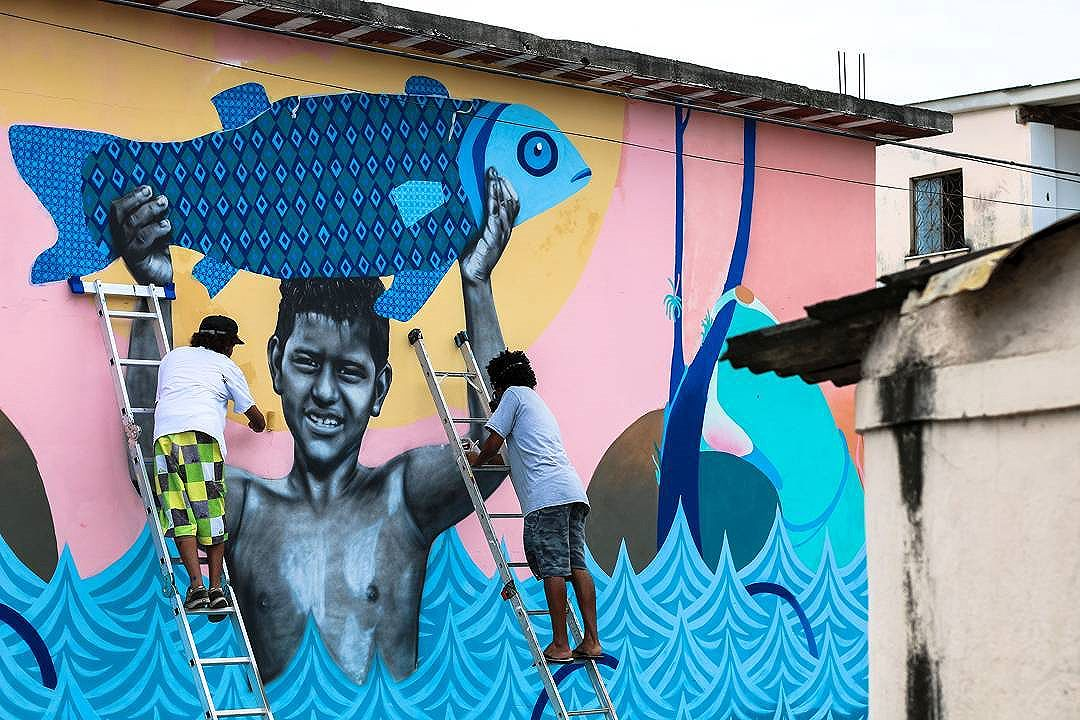 Com meus manos @cetysoledade e @tainancabral Foto: Tainan Cabral #streetart #arteurbana #instagrafite #streetartrio