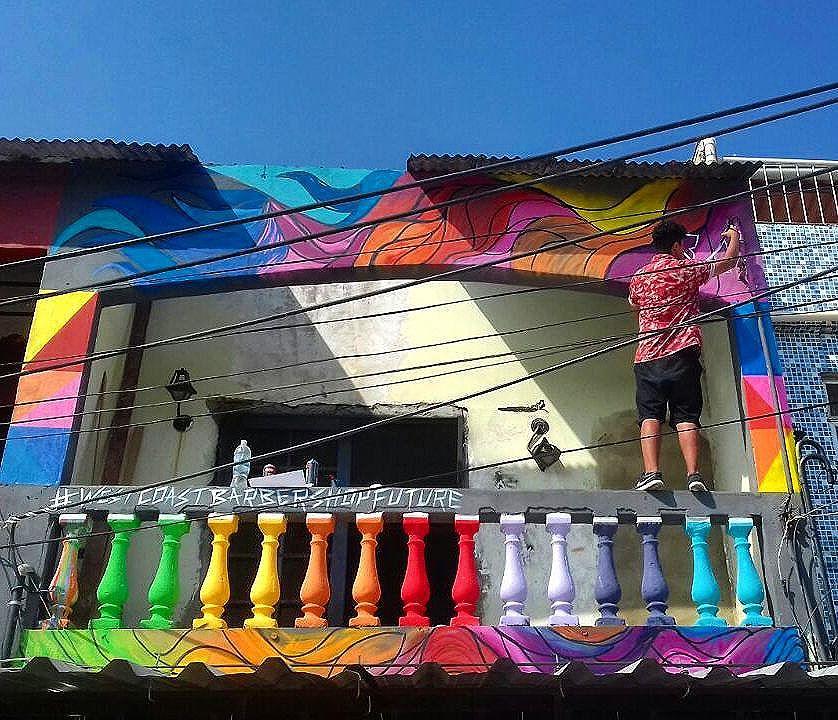 Cores, nuances e tons . #sky #streetartrio #streetart #urban #urbanstyle #Rua #grafitti #grafite #RJ #ca #carioca #riodejaneiro #sepetiba #zonaoeste #westcoast