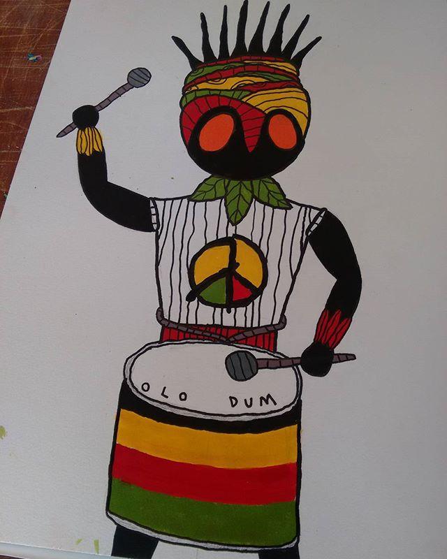 Experimentos afro brasileiros #afro #olodum #bahia #arte #drawing #african #afrobrasileiro #art #cultura #streetartrio #arteurbana #streetart