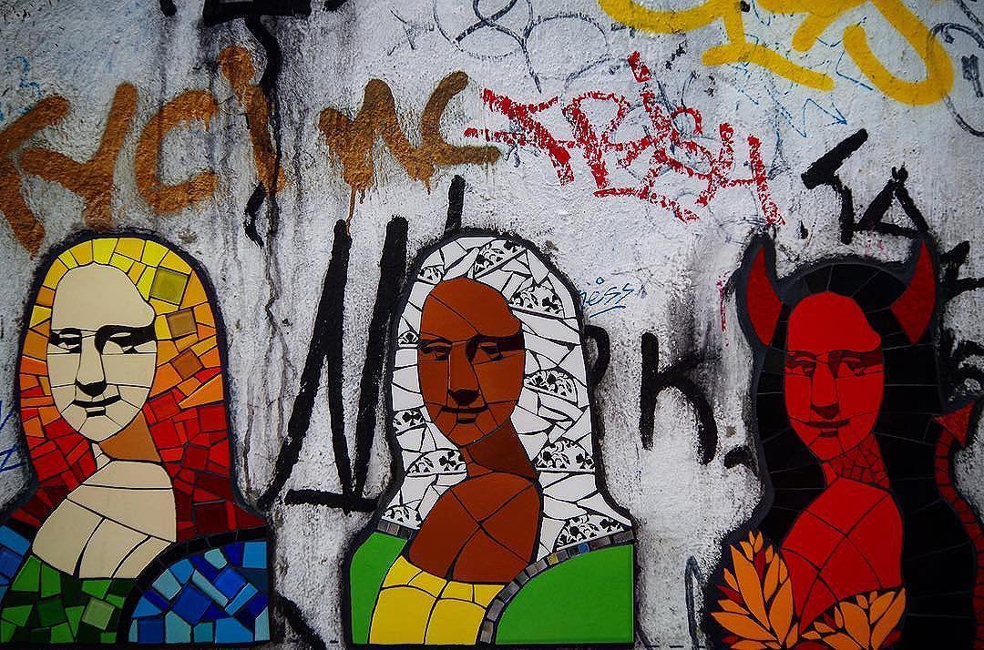 Monalisa revival. De la serie #rio2016 13/21 tomada con Pentax 50k #ig_riodejaneiro #riodejaneiro #brasil #vsco #vscogrid #vscocam #pentax #summer #sun #streetart #streetartrio