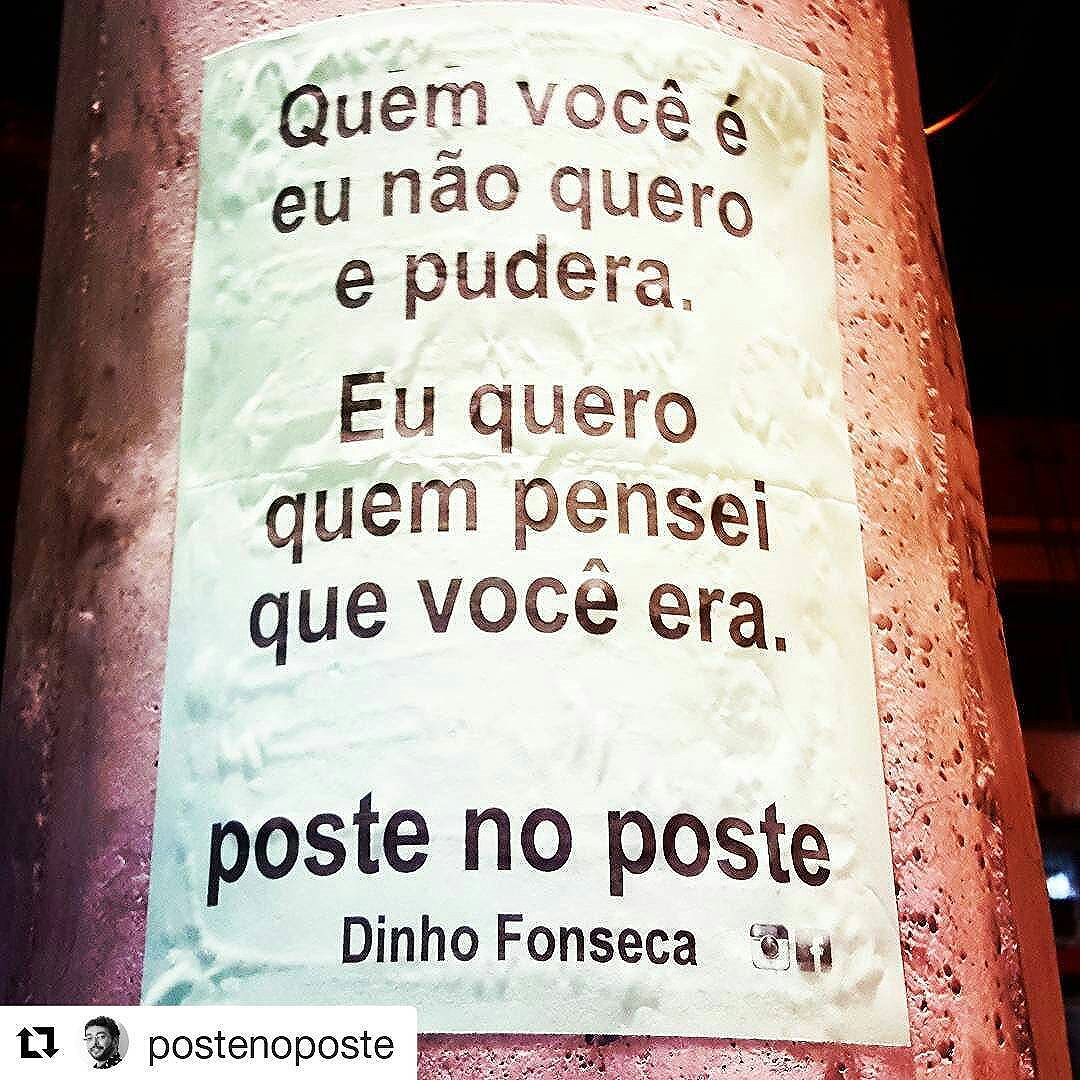 #Repost @postenoposte with @repostapp ・・・ Dinho Fonseca.  APOIE A LITERATURA NACIONAL E O ESCRITOR BRASILEIRO.  Conheça meu livro VERDADE NOTURNA (Chiado Editora - 284 págs.). Você poderá adquirir o seu pelos sites: www.chiadoeditora.com/livraria/verdade-noturna www.easybooks.com.br/literatura-biografias-humor-e-quadrinhos/poesia/verdade-noturna/  Também em e-book e nas melhores livrarias do Brasil e de Portugal.  #poesias #poetry #poema #poemas #verso #versos #poeta #poetas #arte #arteurbana #rj #rio #streetart #original #autor #autoral #post #poste #postes #posts #frases #dinho #dinhofonseca #postenoposte #poster #originals #StreetArtRio #street #verdadenoturna