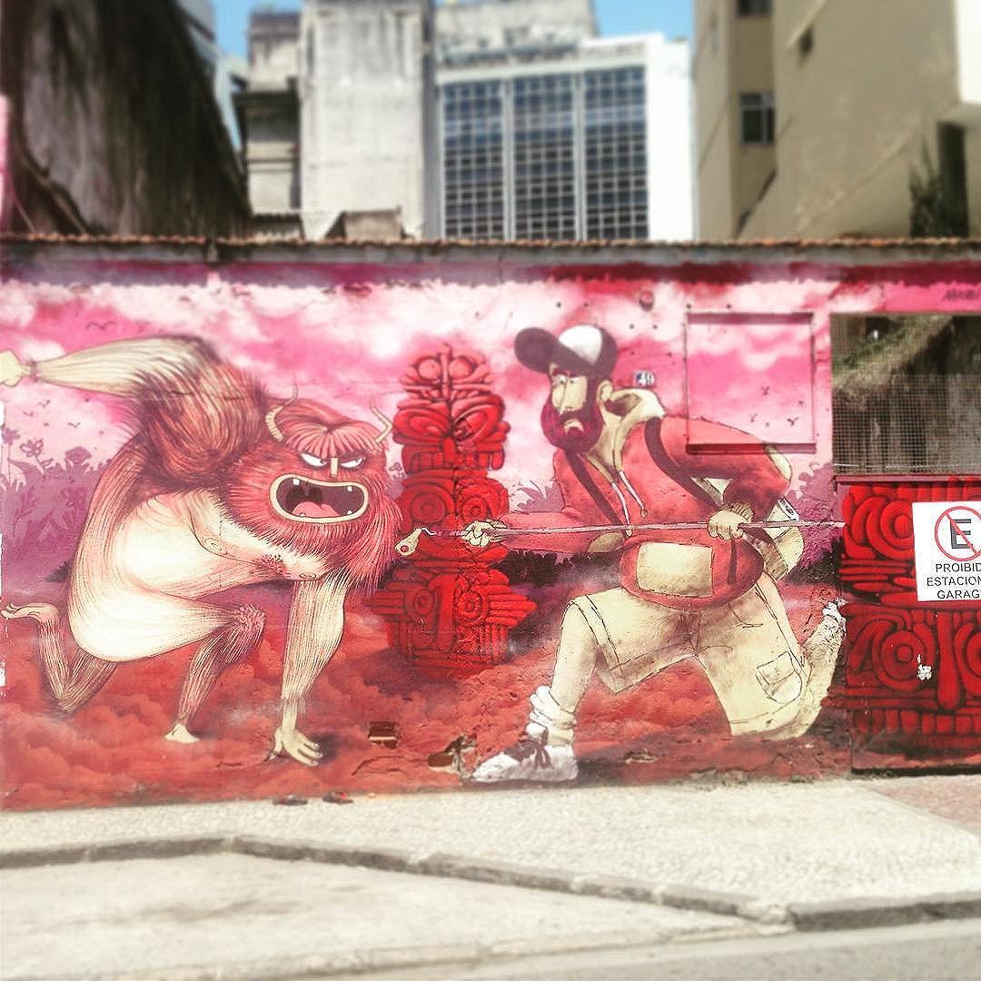 And here he is again  #igersbrasil #riograffiti #riodejaneiro #rio #urbanart #streetart #streetartrio
