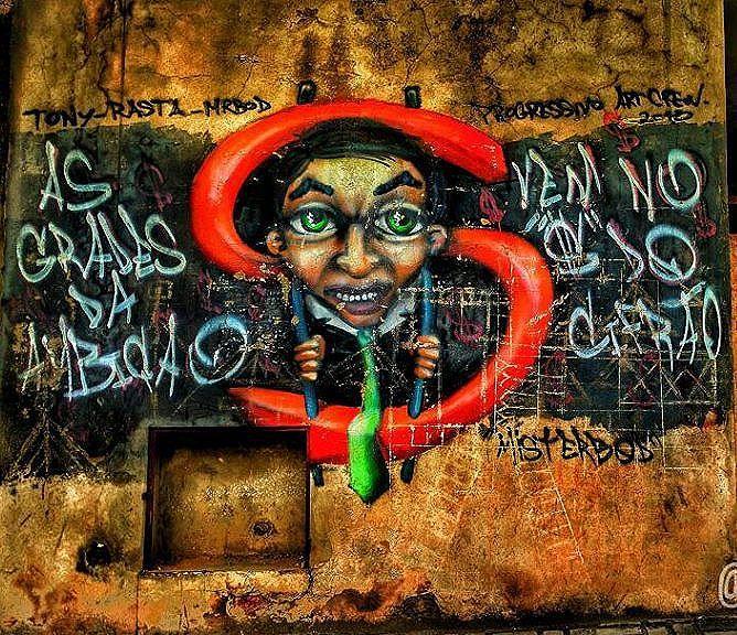 """""""As grades da ambição vem no '$' do cifrão"""" Foto do @rodrigo.ferreira_86 ・・・ Olhe os muros, valorize a arte, fortaleça o movimento. Use #CamposStreetArt ・・・ Crédito ao artista: é o artista ou conhece quem fez a arte? Comenta ai! ・・・ #Arte #Graffiti #streetart #artederua #artenarua #olheosmuros #asruasfalam #graffitiart #instagraffiti #streetarteverywhere #streetartphotography #streetartrio #streetartist #streetartbrazil #graffitilifestyle #graffitiart #tintanaparede #CamposCity #CamposRJ  #camposdosgoytacazes #RJ #streetphoto_brasil #vozesdacidade #streetfiles #libertesuamente"""