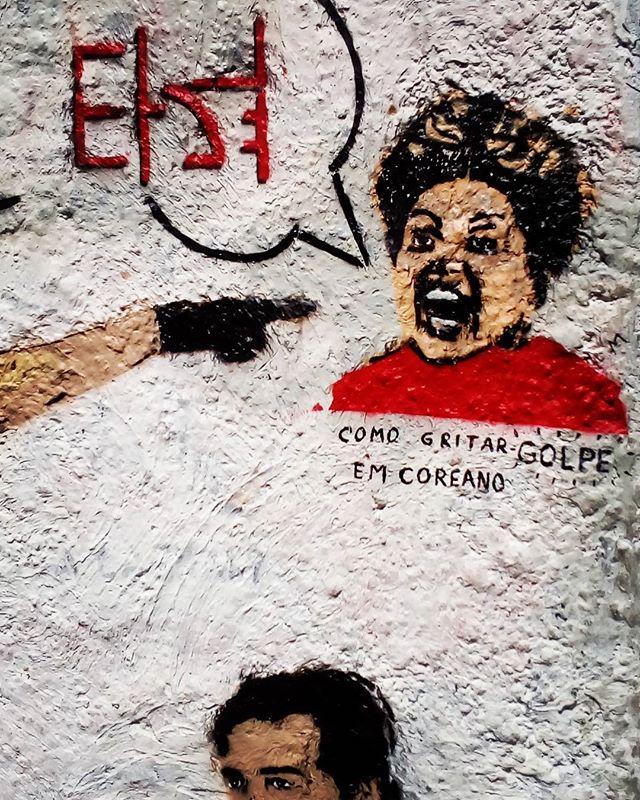 Como gritar golpe em coreano. #palavrasachadasnarua #wordsfoundonthestreet #poesiadeparede #poesiaderua #poesia  #streetartrio #streetartistry #grafitti #grafittibrasil #arteurbana #streetart #streetstyle #streetwear #laranjeiras #riodejaneiro  #riodejaneiroinstagram #oqueasruasfalam #olheosmuros #murosquefalam #muros #aruafala #golpe