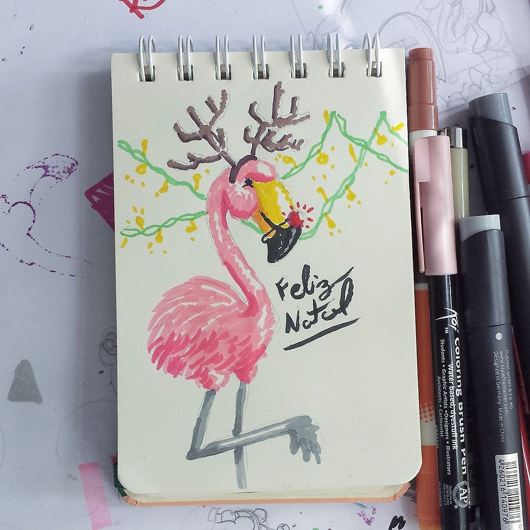 Feliz natal!  E não esqueçam das novas brusinhas a venda na página :) #trapacrew #streetartrio #streetartrj #flamingo #flamingos #flamenco #natal #christmass #graffiti #grafite #graff #graffitiporn #street #colorful #wall #city #urban #spraydaily #граффити #spraycanart #sprayart #graffity #streetart #rafagraffiti #rafa