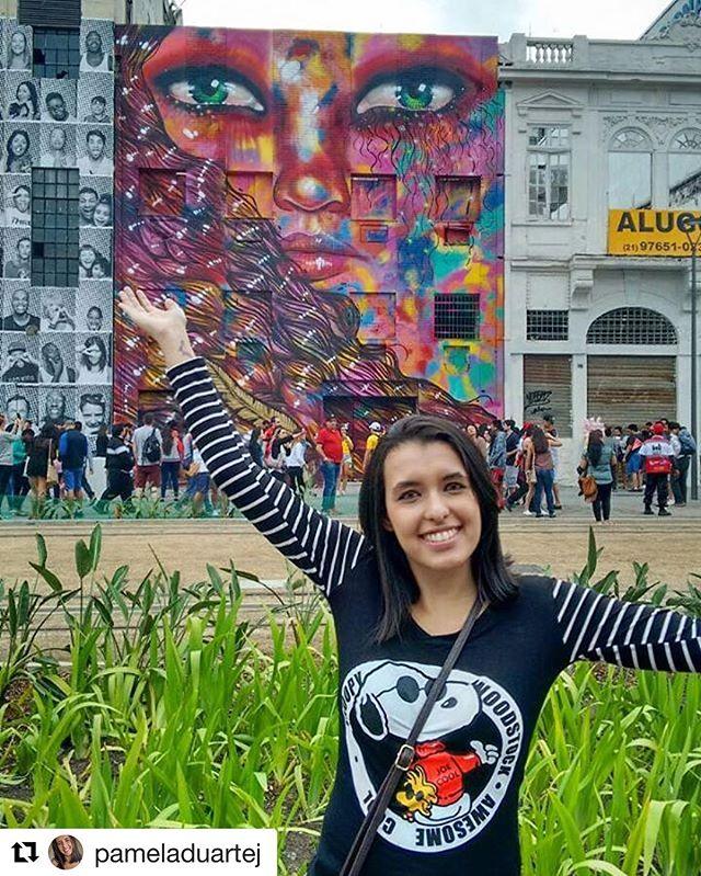 #Repost @pameladuartej ・・・ Já acompanho o trabalho dessa artista maravilhosa pelo Facebook faz tempo, ver de perto uma arte feita por ela é melhor ainda <3 Nice, A Deusa da Vitória por Panmela Castro! #panmelacastro #adeusadavitoria #boulevardolimpico #boulevard #graffiti #art #streetartrio