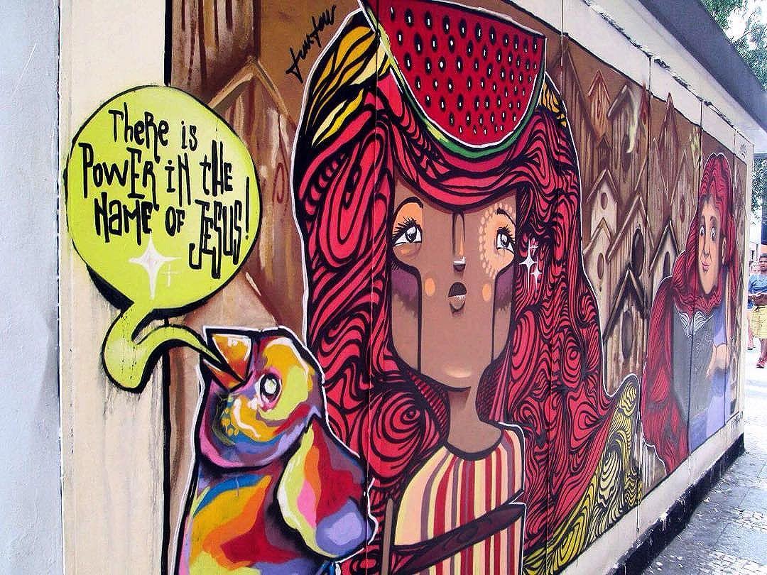 There is power in the name of Jesus. #merrychristmas #jesus #riodejaneiro #rio #brazil #colourful #housepainting #streetart #streetartrio #urbanart #godisgood #annahetzel