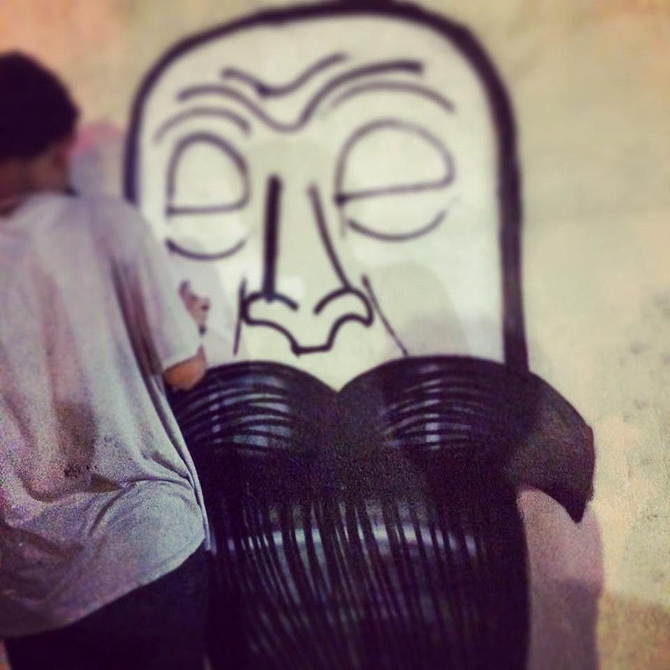 Tudo na base do recorte  #graffiti #graff #mtn #streetartrio