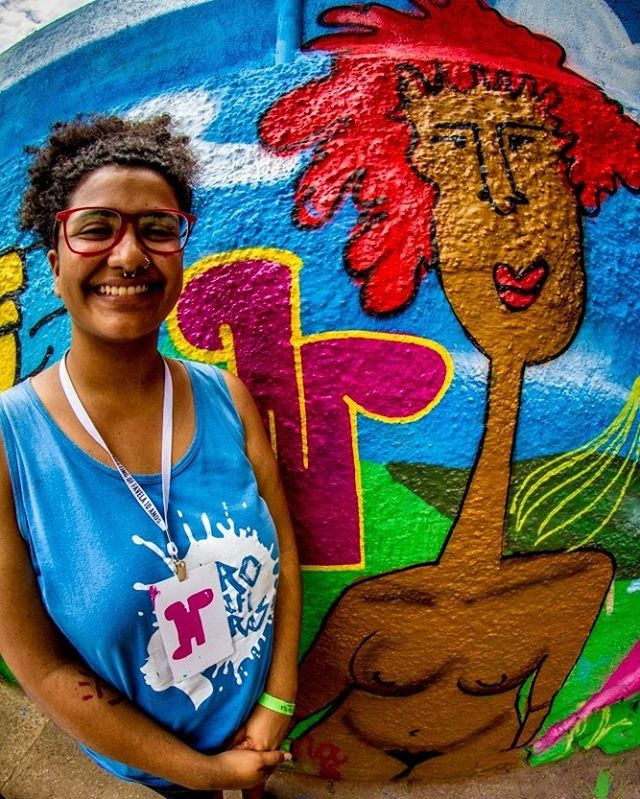 @cinnagrafitti e seu graffiti no mural da NAMI no #MOF2016  #StreetArt #StreetArtRio #ArteUrbana #RedeNAMI