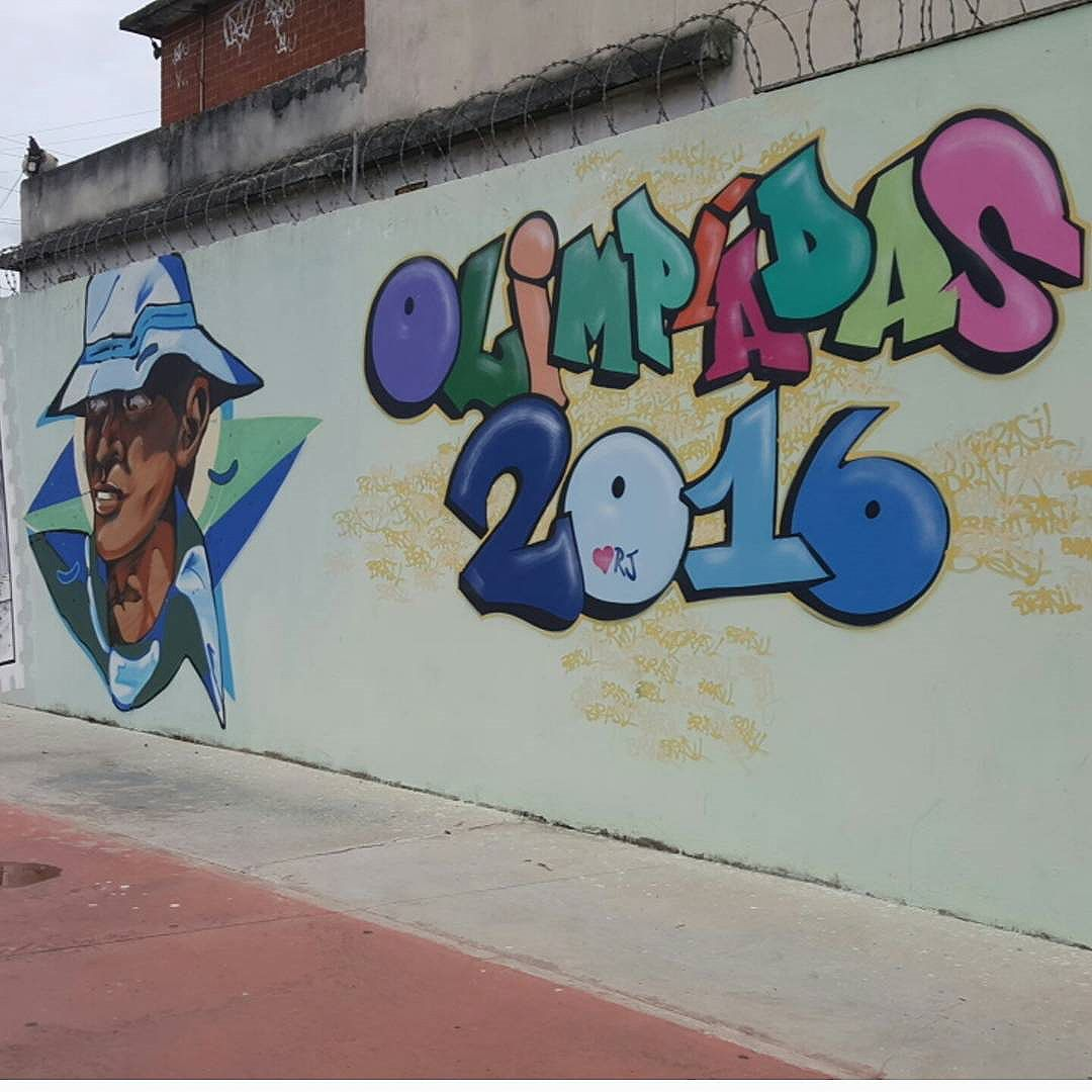Arte - Estádio Olímpico Nilton Santos - Engenhão #olharever #pelasruasdoriodejaneiro #art #artepelasruas #pintura #paint #paintart #graffiti #graffitiart  #graffitipaint #spray #sprayart #sprayartist #streetartverywhere  #streetartlovers #instagrafite #streetartrio #StreetArtRio #streetartofficial #streetstyle #streetartistry #streephotography #urban #urbanart #urbanstreetart #mural #muralart #instagood #instagramphoto