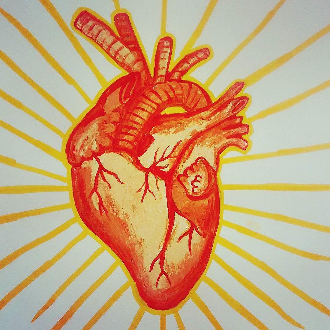 Coração dourado  Amor amarelo Vida mistério  #arte #amor #coração #colori #streetartrio #desenho #anatomia #medicina #medico #ilustração #decoracao #decoarar #art #vida