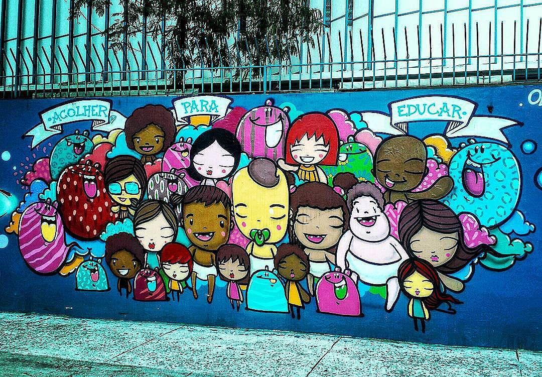 Fotografei essa arte incrível na Lagoa. No muro da Obra do Berço.  Mais uma linda #ArteUrbanaBR  #urbanart #streetart #streetartrio #arteurbana #artederua #artecallejero #grafite #graffiti #graff