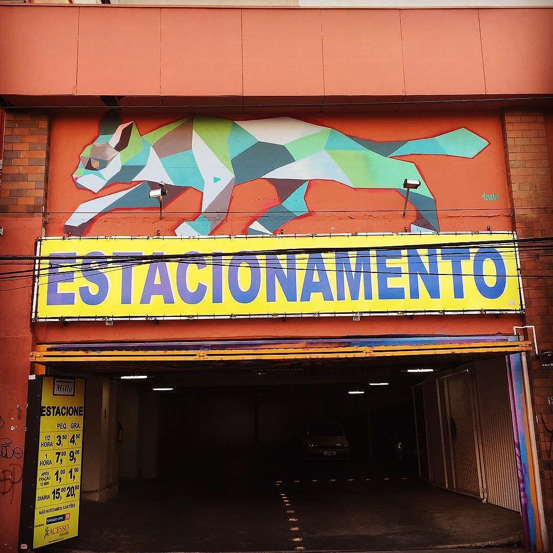 Parking #cat is ever vigilant. #catsofinstagram #curitiba street art from my recent trip to #Brazil with the http://www.shuffledemons.com #streetart #publicart #graffiti #instagraffiti #urbanart #graffart #graffitiart #graff #streetartrio #murals #popart #newpublicart #graffitistreet #wallgraffiti #kunst #art #sprayart #wallart #publicartwork #art_public #streetartcuritiba #curitibainstagram #curitibapics #brasil2016 #rio2016