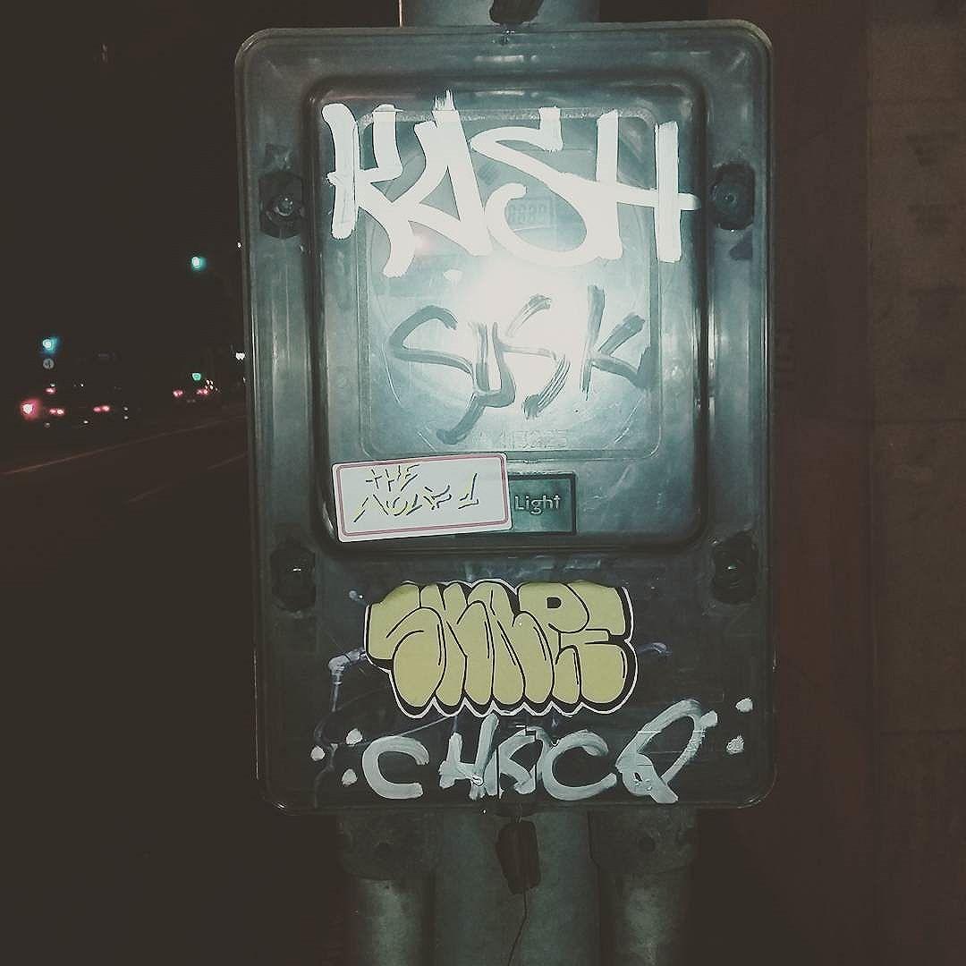 Por ae  #wolf  #vandal #streetart #streetartrio #graffiti #instagraffiti #stikers