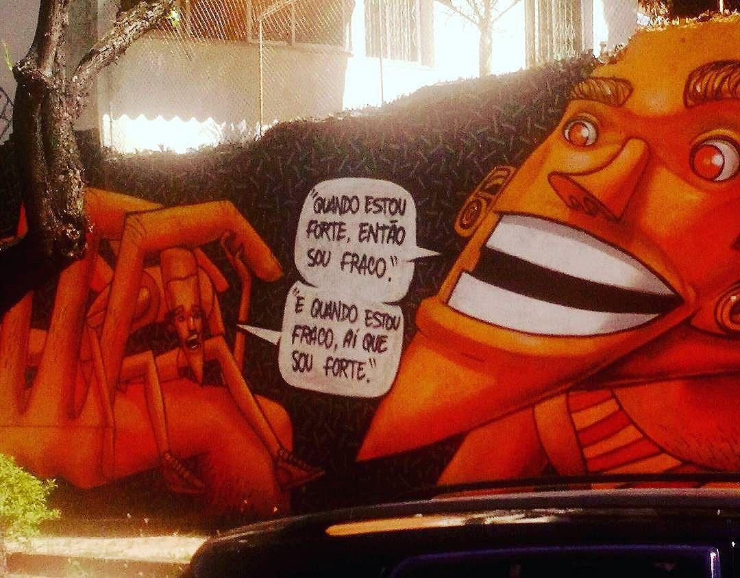 """""""Quando estou forte, então sou fraco. E quando estou fraco, aí que sou forte"""" #Tijuca #TJK #paredespichadas #murosquefalam #olheosmuros #oqueasruasfalam #oqrf #asruasfalam #aruafala #streetart #arteurbana #artederua #urbanart #grafite #grafitti #instagrafite #StreetArtRio #tijukistan"""