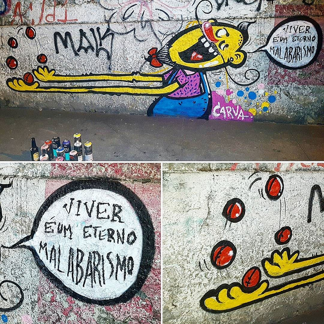 Que em 2017, equilíbrio seja a palavra!  #carva #malabarismo #vida #santateresa #streetartrio #streetart #grafiterio #palhaço #churumello