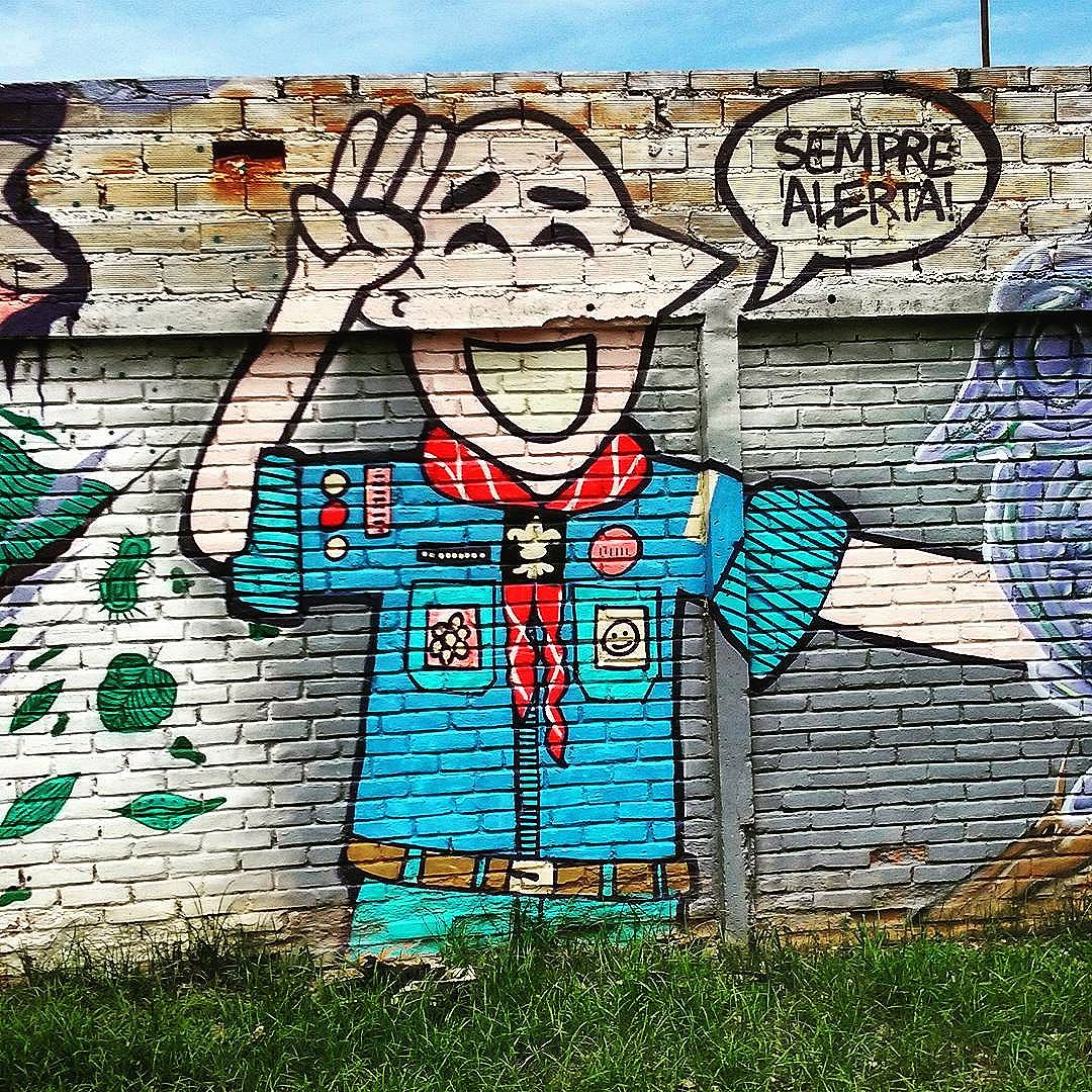 Sempre Alerta Rua Sideral Andaraí  #StreetArtRio  #grafittinoriodejaneiro