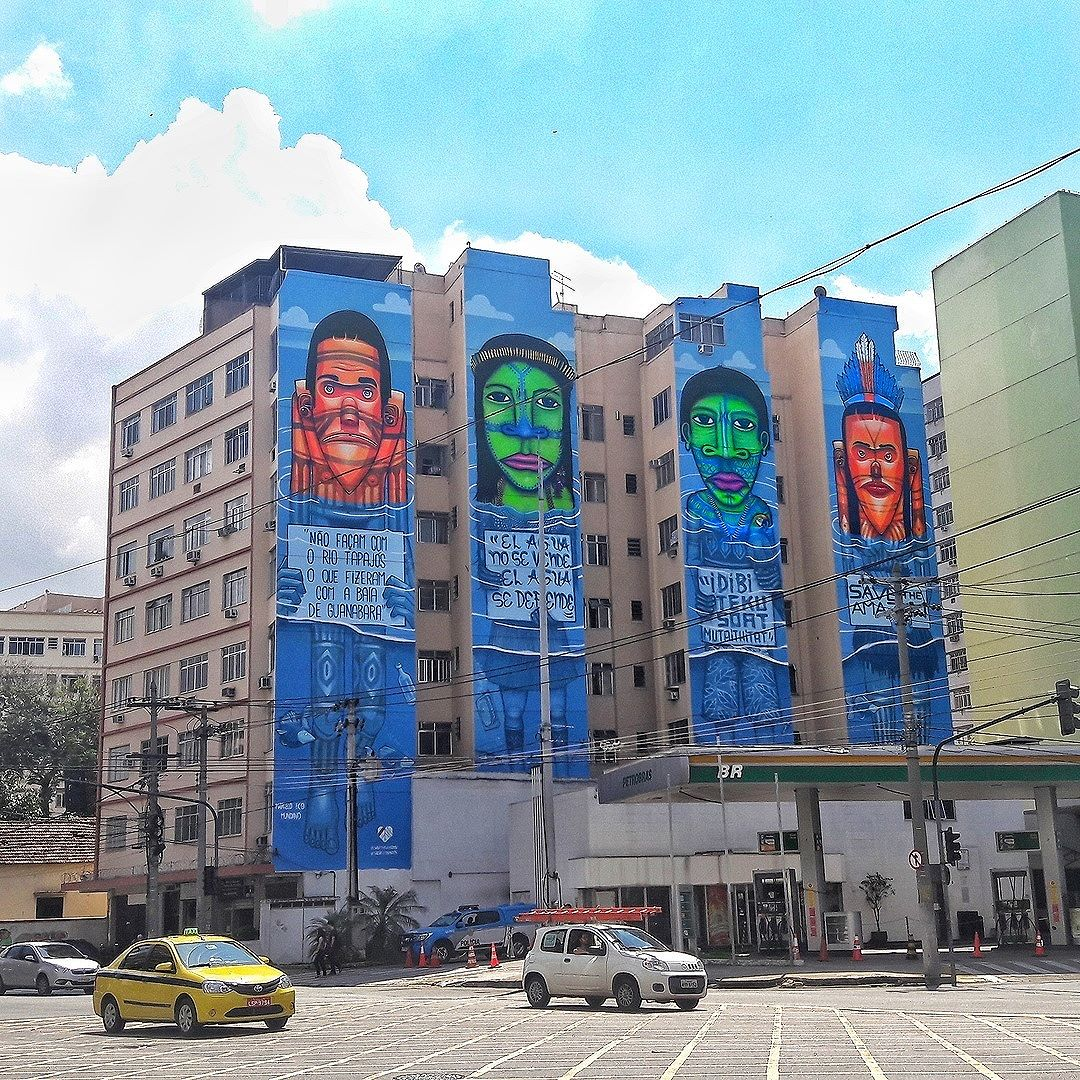 #StreetArtRio  Grafite na esquina da Avenida Maracanã com a rua São Francisco Xavier, no Maracanã. Artistas: Eco (@marceloeco) e Mundano (@mundano_sp) Tirada em 10/09/2016 ____________________________________  Quer conhecer mais obras destes artistas e de tópicos relacionados? Explore mais em: #g021_eco #g021_mundano #g021_SP #g021_outrosestados
