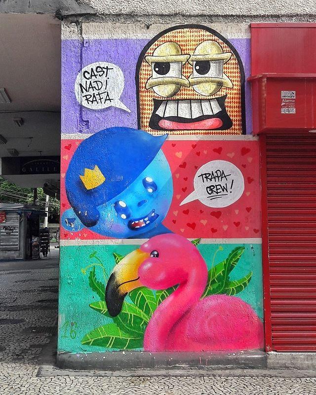 #StreetArtRio  Grafite na esquina das ruas Santo Afonso e Major Ávila, na Tijuca. Artistas: Cast (@castleonardo), Nadi (@nadigraffiti) e Rafa (@rafaelgeraldo) Trapa Crew (@trapa_crew) Tirada em 20/01/2016 ____________________________________  Quer conhecer mais obras destes artistas e de tópicos relacionados? Explore mais em: #g021_cast #g021_nadi #g021_rafa #g021_trapacrew