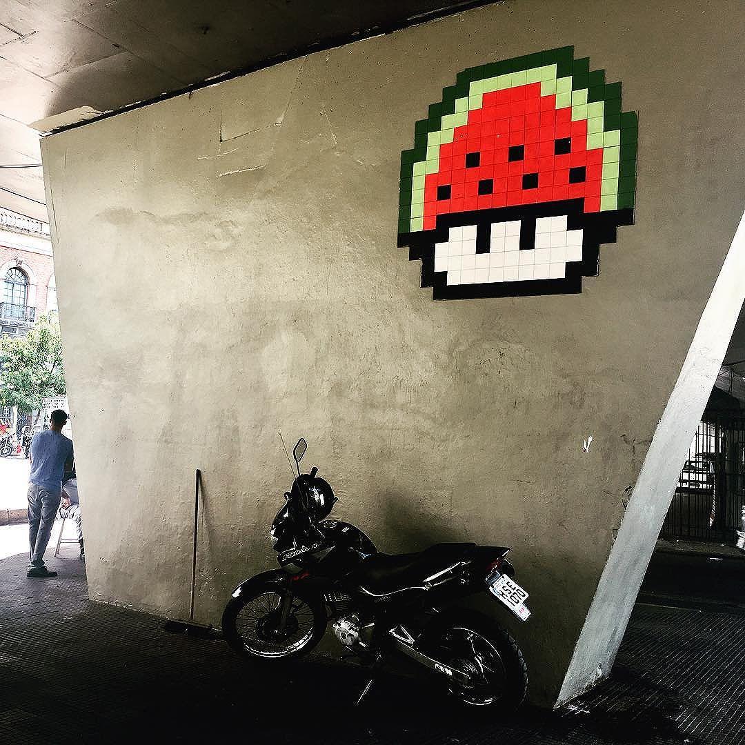 @invaderwashere in Rio! #invader #invasion #streetart #streetartrio #urbanart #artecallejero #retro #mariobros #videogames