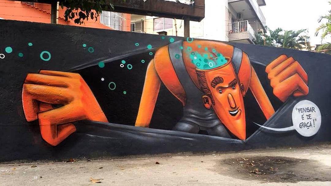 @marceloeco in Rio de Janeiro, Brasil. #marceloeco  #riostreetart #streetartrio #streetartrj #graffitirio #graffitirj #streetartbrazil #streetartbrasil #streetartbr #brazilstreetart #graffitibrasil #brasilgraffiti #brazilgraffiti #igersbrazil #ig_brazil #graffitibrazil #streetart #urbanart #graffiti #wallart #graffitiart #wallpainting #muralpainting #artederua #arteurbana #muralart #graffitiwall #graffitiartist #streetart_daily #streetarteverywhere