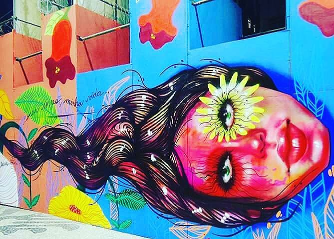 Artista : Panmela Castro  @panmelacastro #streetphotography #streetphotographers #ofantasticomundodografite #panmelacastro #streetarteverywhere #streetartglobal #aerosolart #sprayart #spraywall #graffiti_of_our_world #be_one_urbanart #street_art_community #arteurbana #streetartrio #graffiti #graffiticarioca #street_art #streetartist #instagraffiti #urbanart #urbanwalls #graffitiporn
